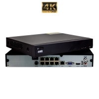 8 Channel 8MP 4K NVR Plug and Play PoE - Click for more info