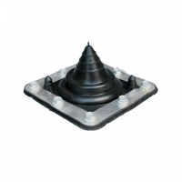 Small Rubber Boot EPDM Flash - Rafter Mount - for up to 35mm OD Pipe