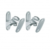 Pair Silver Wall Mount Speaker Brackets
