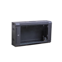 6U 150mm Deep Black Wall Cabinet, 1 Fan Hole