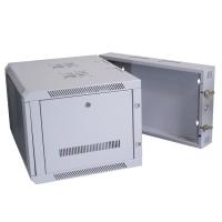 6U 550mm Deep Wall Cabinet, Hinged & 2 Fan Holes, In Beige