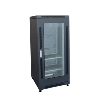25U Floor Standing Black Cabinet 60cm Deep 132cm High