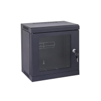 "6RU Mini Black Cabinet for 10"" Patch Panels"