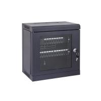 Data Wall Cabinet 6RU Mini 10 Inch Patch Panels Black