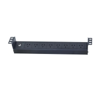 Data Cabinet 19 Inch 8 Outlet Recessed Power Rail - Click for more info