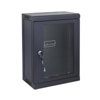 "9RU Mini Black Cabinet for 10"" Patch Panels - Click for more info"