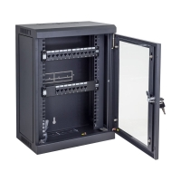 Data Wall Cabinet 9RU Mini for 10 Inch Patch Panels Black