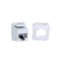 CAT5e Keystone, Adaptor / Coupler c/w Clip To Suit Clipsal Style Plate