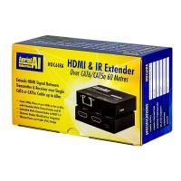 HDMI Extender CAT5e CAT6 60 Metres with IR Return and HDMI Loopthrough AI