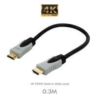 4K HDMI Male to Male Lead  0.3M - Click for more info