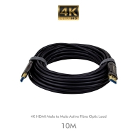 4K HDMI Male to Male  Active Fibre Optic Lead 10M