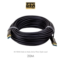 4K HDMI Male to Male Active Fibre Optic Lead 20M