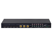 HDMI 2.0b Matrix 4 In 3 HDBaseT +1 Out <40m @18Gbps HDCP2.2 4K with IR Repeat &