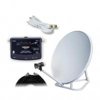 Satellite Caravan Kit Includes SQ722 Meter, Folding Dish (No Receiver Included)