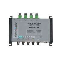 4 Optical Receiver for SAT / TV Signals In The Same Housing - 4 Inputs