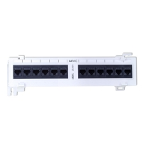 "12 Port CAT6 10"" Wall Mount Patch Panel"