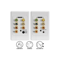 Wall Plate - Audio Video & Component with IR over CAT5e