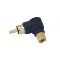 RCA Right Angle Adaptor, Black