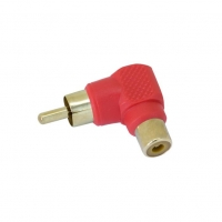 Adapter RCA Right Angle Red