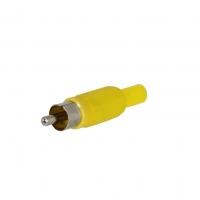 RCA Plug Solder, Yellow
