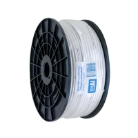 Coax RG6 Dual Shield 100m Plastic Spool, Foam Foil & Braid, White
