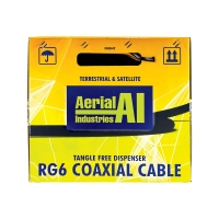 Coax RG6 Quad Shield 305m Reel In A Box, Black