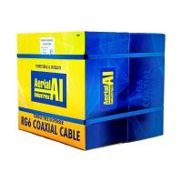 Coax RG6 Quad Shield 305m Reel In A Box, Black