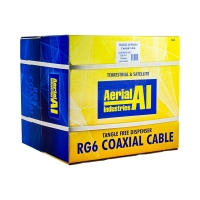 Coax RG6 Quad Shield 305m Reel In A Box, Black, Premium