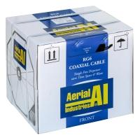 Coax RG6 TriShield 305m Reel In A Box, Black