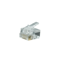 6 Position Modular Plug 6P6C for Solid Cable (Bag of 10)