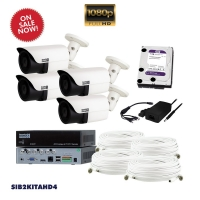 AHD CCTV kit, 4x SIB2AHD, 1x SI104T, 1x HD1TB, BNC 16 & 24M - Click for more info
