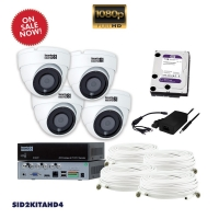 AHD CCTV 4x SID2AHD, 1x SI104T, 1x HD1TB, 4x BNC 18 & 24M - Click for more info