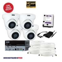 AHD CCTV kit, 4x SID5AHD, 1x SI104T, 1x HD2TB, BNC 16 & 24M - Click for more info