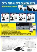 AHD CCTV kit, 4x SID5AHD, 1x SI104T, 1x HD2TB, BNC 16 & 24M