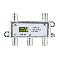 Splitter 4 Way 5 to 1000MHz 1 Port Power Pass AERIAL INDUSTRIES