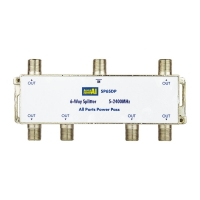 6 Way Splitter 5-2400MHz Diode Steer All Ports Power Pass