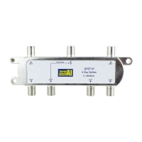 Splitter 6 Way 5 to 1000MHz 1 Port Power Pass AERIAL INDUSTRIES