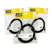 Data Cable Lightning USBC to USBA 3 Metres Black