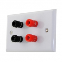 Wall Plate x4 Binding Post