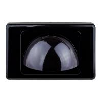 Wall Plate Bullnose Black