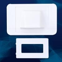 Wall Plate Bullnose/Flush Convertible Plate