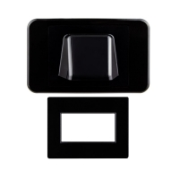 Wall Plate Black Bullnose/Flush Convertible Plate