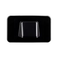 Wall Plate Black Bullnose/Flush Convertible Plate
