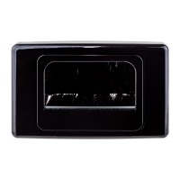 Wall Plate Recessed Black Bullnose