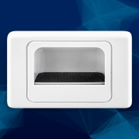 Wall Plate Recessed Bullnose White