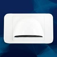 Wall Plate Slimline Bullnose White