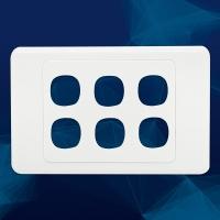 Wall Plate Premium 6 Gang
