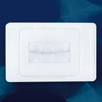 Wall Brush Plate White