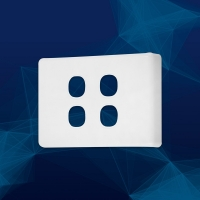 Wall Plate Premium Classic 4 Gang
