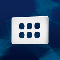 Wall Plate Premium Classic 6 Gang